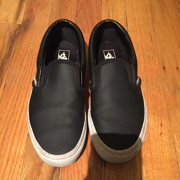 Vans Shoes   Vans Leather Slip On